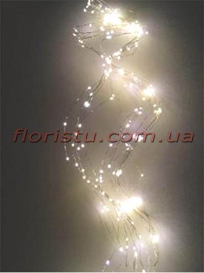 Гирлянда LED Теплый свет 2 м 360 ламп 18 нитей