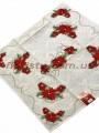 Новогодняя гобеленовая скатерть EMILY HOME 90*90 см №8