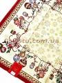 Новогодняя гобеленовая скатерть EMILY HOME 140*140 см №01