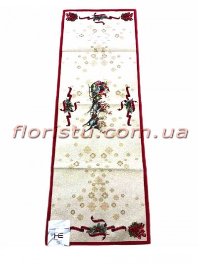 Новогодняя гобеленовая скатерть-раннер EMILY HOME 45*90 см №12