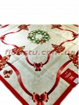 Новогодняя гобеленовая скатерть EMILY HOME 90*90 см №3 Золото