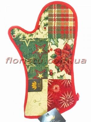 Гобеленовая новогодняя рукавица EMILY HOME 32 см