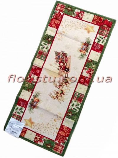 Новогодняя гобеленовая скатерть-раннер EMILY HOME 40*100 см №5