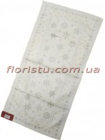 Новогодняя гобеленовая скатерть-раннер EMILY HOME 45*90 см №18 Белая