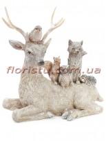 Декоративная статуэтка из полистоуна Лесная композиция 25 см