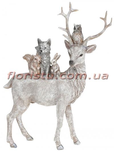 Декоративная статуэтка из полистоуна Лесные жители 24 см