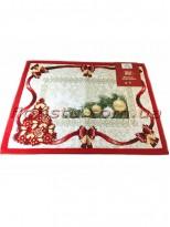 Новогодняя гобеленовая салфетка EMILY HOME 35*45 см №3 Золото