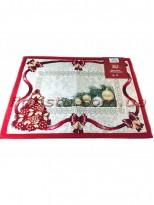 Новогодняя гобеленовая салфетка EMILY HOME 35*45 см №3 Серебро
