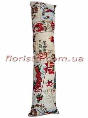 Гобеленовая подушка валик EMILY HOME PAPA NOEL 20*100 см