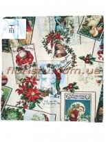 Гобеленовая скатерть EMILY HOME PAPA NOEL квадрат 90*90 см