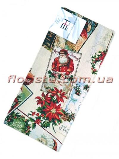 Гобеленовая скатерть раннер EMILY HOME PAPA NOEL 45*90 см