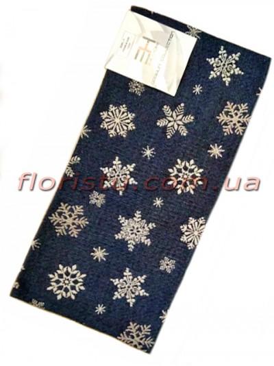 Гобеленовая скатерть раннер EMILY HOME SNOW 45*90 см
