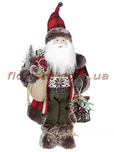 Новогодняя мягкая игрушка Санта Клаус 46 см