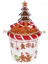 Банка для сладостей керамическая Печенье 2 л