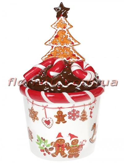 Банка для сладостей керамическая Печенье 650 мл №1