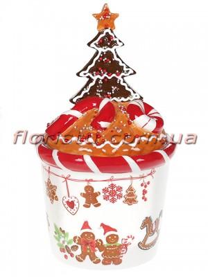 Банка для сладостей керамическая Печенье 650 мл №2