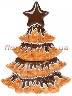 Банка для сладостей керамическая Ёлка-печенье 2 л