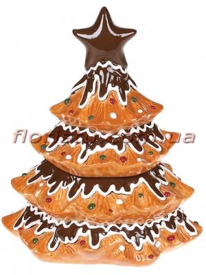 Банка для сладостей керамическая Ёлка-печенье 500 мл
