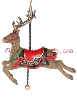 Декоративная подвесная фигурка Северный олень 14 см