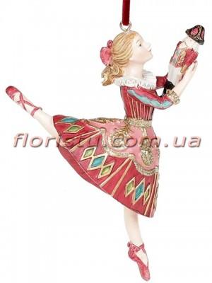 Декоративная подвесная фигурка Девочка и Щелкунчик 12 см