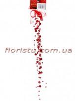 Бантик с подвесками из бусин Красный металлик 40 см