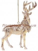Декоративная подвесная фигурка Золотой Олень 12 см