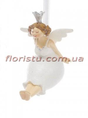 Декоративная фигурка-подвеска полистоун Веселая Фея 9 см №2