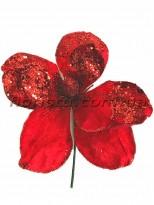 Магнолия новогодняяя премиум Красная 27 см