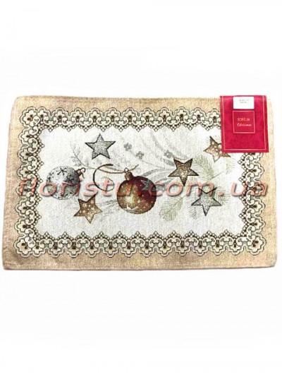 Новогодняя гобеленовая салфетка EMILY HOME 33*50 см №02