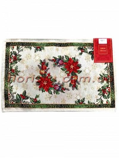 Новогодняя гобеленовая салфетка EMILY HOME 33*50 см №04