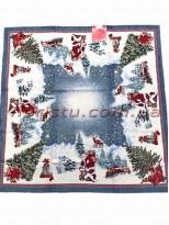 Новогодняя гобеленовая скатерть EMILY HOME 140*260 см №03