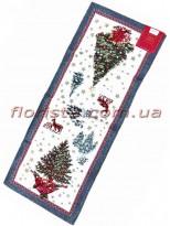 Новогодняя гобеленовая скатерть-раннер EMILY HOME 35*100 см №03