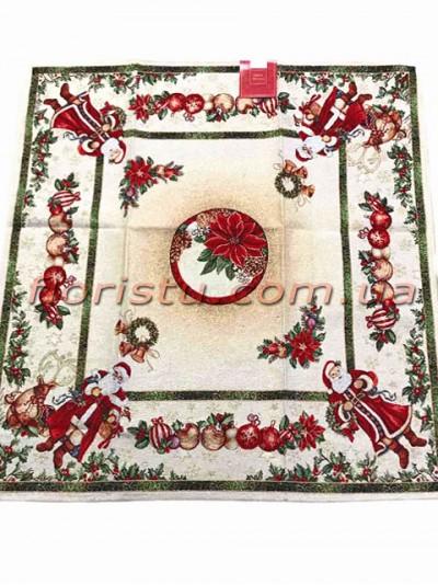 Новогодняя гобеленовая скатерть EMILY HOME 140*180 см №04