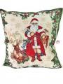 Новогодняя гобеленовая подушка двусторонняя EMILY HOME 45*45 см №04