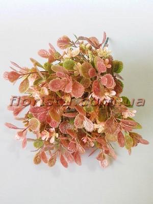 Добавка флористическая бежево-розовая с розовыми цветочками 35 см
