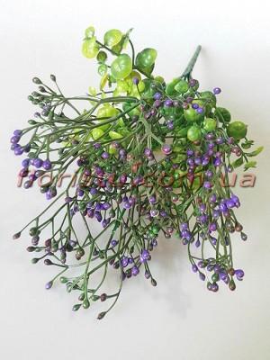 Травка с фиолетовыми ягодками 34 см