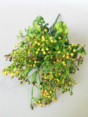 Травка с желто-бордовыми ягодками 34 см