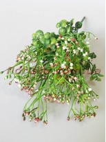 Травка с бело-бордовыми ягодками 34 см