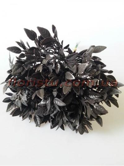 Веточки с листочками цвета Мокрый асфальт пучок 10 шт. 22 см