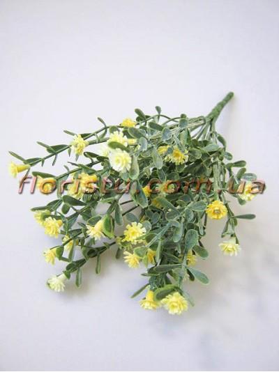 Гипсофила дымчатая желтая 7 веток 25 см
