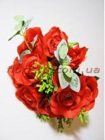 Букет роз красный 10 гол. 5 см