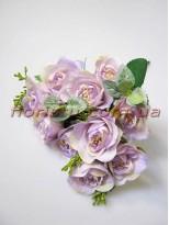 Букет роз сиреневый 10 гол. 5 см
