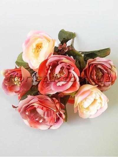 Букет роз Ретро пепельно-розовых гол. 7 см