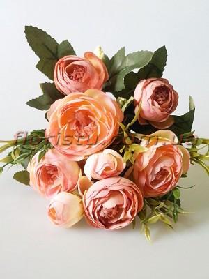 Ранункулюсы Винтаж с добавками пепельно-розовые и кремово-розовые 7 гол. 5 см