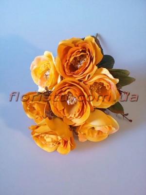 Букет роз Ретро золотисто-желтый гол. 7 см