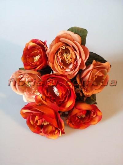 Букет роз Ретро оранжевая охра гол. 7 см