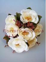Букет роз Ретро белый гол. 7 см