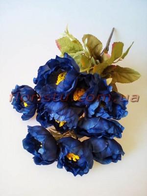 Камелии Винтаж мини синие 11 гол. 5 см