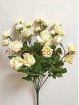 Букет кустовых роз Винтаж кремовых 35 см гол. 3 см