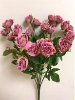 Букет кустовых роз Винтаж Сиренево-розовый 35 см гол. 3 см